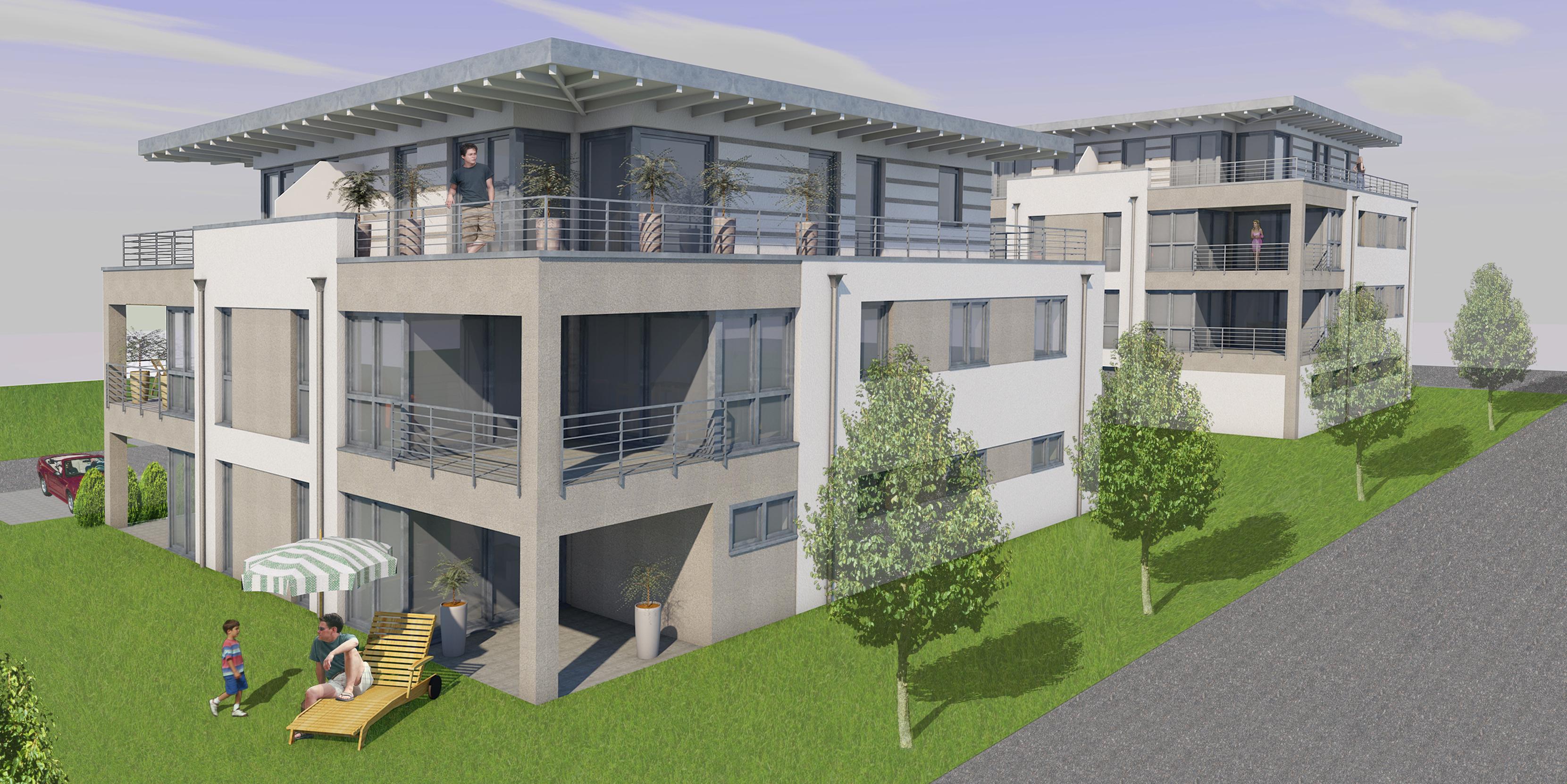 Oliver schr gel architekturb ro neubau mehrfamilienhaus for Mehrfamilienhaus neubau